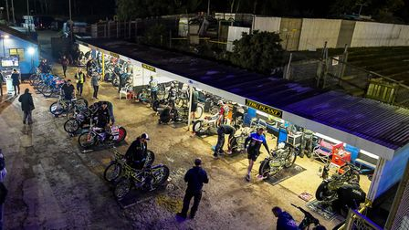 An overview of the pits ahead of the Ipswich v Swindon (play-off final, first leg) meeting. Pictu