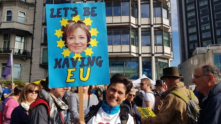 Delia Smith will be paying for coaches taking EU supporters to London. Photo: Jono Read