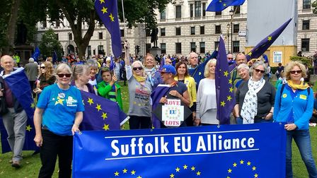 The Suffolk EU Alliance will be returning to London on Saturday. Picture: PHILIP GOUGH