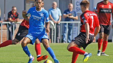 Noel Aitkens, who scored an equaliser in the fourth minute of injury-time for Leiston in a 4-4 draw.