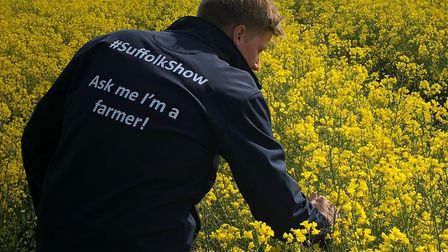 Tom Rouse, one of the Farming Ambassadors for Farming Live, in an oilseed rape field Picture: BRIAN