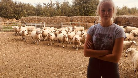 Iona Cooper who is studying farming at Easton and Otley College Picture: JOHN NICE