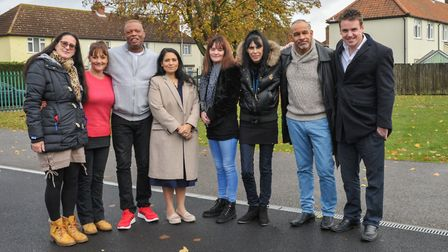 We had full access during Priti Patel's visit to Ipswich on Monday when she met community leaders in