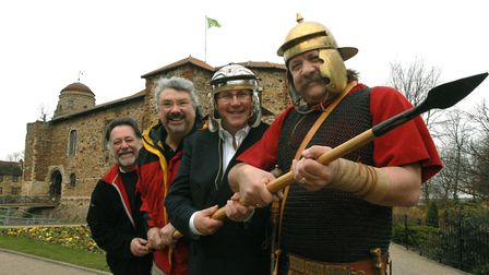 One guest asked if there were any Romans still living in Colchester. The Colchester Roman Society ma