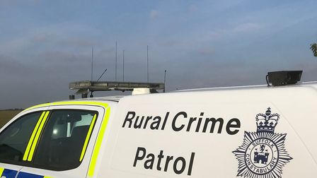 The Rural Crime Team pursue incidents of hare coursing by using drones. Picture: SUFFOLK POLICE