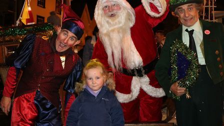 Lily with santa at the Bury light switch on Picture: CHARLOTTE BOND