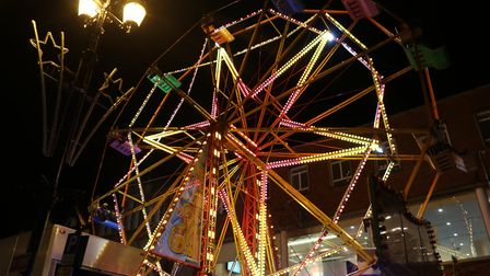 The ferris wheel at the Bury light switch on Picture: CHARLOTTE BOND