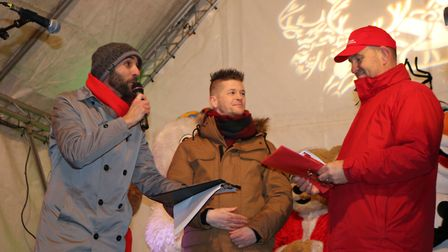 Daniel Challenor turning the christmas lights on Picture: CHARLOTTE BOND