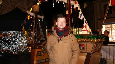 Local hero Daniel Challenor turned on the lights for Bury this year Picture: CHARLOTTE BOND