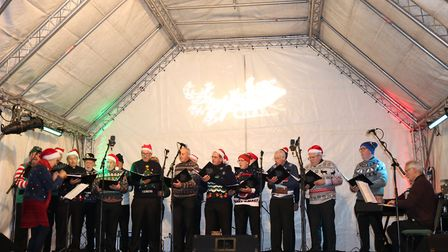 The Suffolk constabulary male choir took to the stage Picture: CHARLOTTE BOND