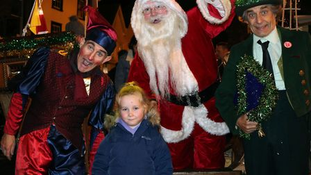 Lily with santa at the bury christmas switch on Picture: CHARLOTTE BOND