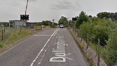 The crash happened on Dullingham Road, near the railway line Picture: GOOGLE MAPS