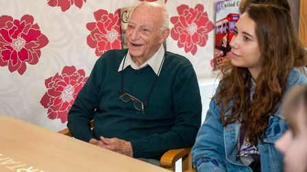 A Cornwallis Court resident with a YOPEY befriender Picture: CHRIS FELL