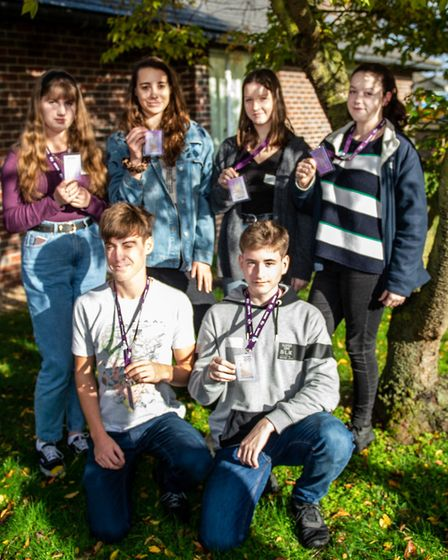 The founder of the Suffolk charity YOPEY Tony Gearing MBE has trained six sixth-formers from County