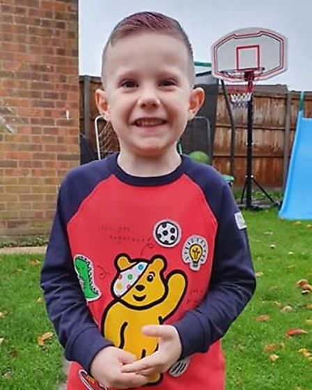 Stanley, 4, is all dressed up for Children in Need in Ipswich. Picture: MICHELLE LAMB