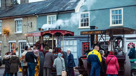 There will be steam engines at the Festive Long Melford event Picture: A.Longhurst