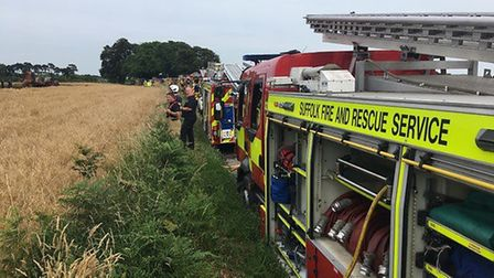 Field fires contributed to the rise in 'secondary' fires in Suffolk in 2018. Picture: RACHEL EDGE
