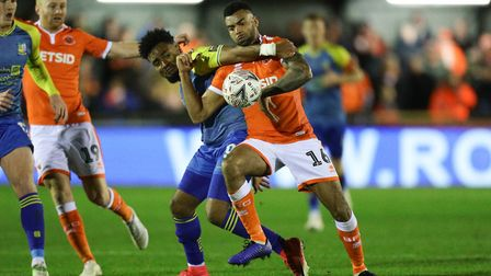 Ipswich Town tried to sign Blackpool's Curtis Tilt (right) in the summer of 2018. Photo: PA