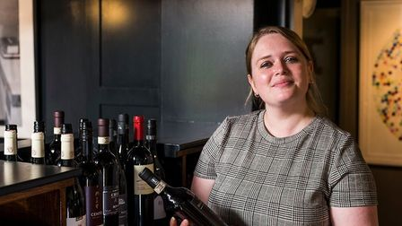 Restaurant manager Amy Challis at the Unruly Pig Picture: CLAUDIA GANNON
