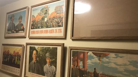 A Chairman Mao propaganda poster was stolen from the pub's toilet. Photo: The Unruly Pig.