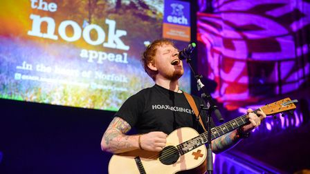 Ed Sheeran is an ambassador for EACH after supporting the charity over many years. Picture: EACH