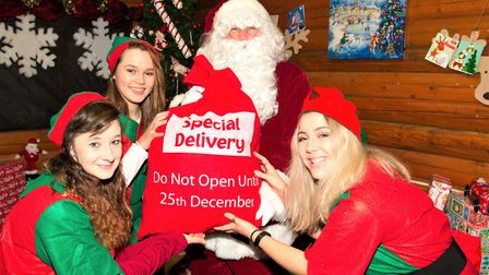 Santa arrives at Notcutts in Woodford but will be stopping off at Woodbridge at the weekend. Picture