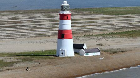 Orfordness as seen from the air in 2015. The changing nature of the Ness is the subject of a Flipsid