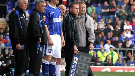 Connor Wickham, pictured ahead of his debut in 2009, is the youngest player to have played for Ipswi