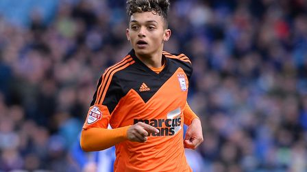Andre Dozzell scored on his Ipswich Town debut, 32 years after his father Jason did the same. Pictur