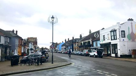Last year the Christmas lights were put up in Aldeburgh without any ceremony Picture: JESSICA HILL