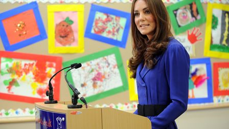 HRH The Duchess of Cambridge, Kate, visits the East Anglian Children's Hospice in Ipswich to officia