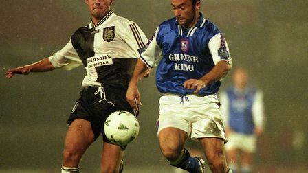 Simon Milton, in action during Ipswich Town's dismal 2-0 home defeat to Stockport County, in Novembe