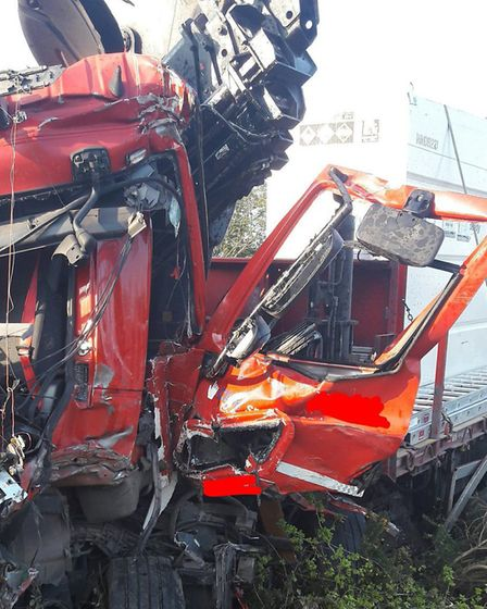 The crash happened on the A14 at Rougham in March Picture: NSRAPT