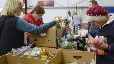 The Gatehouse Dementia Hub and Food Bank met last week to hand out food supplies to those in need an