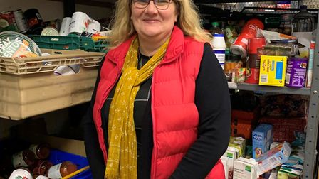 Amanda Bloomfield is the chief executive of Gatehouse Caring and was at the food bank in Bury St Edm