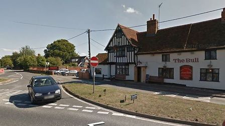 The collision reportedly happened on the Ipswich bound A137 by the Brantham Bull. Picture: GOOGLE MA