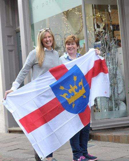 Suzanne Cooper , owner of the Parsley Pot in Bury St Edmunds, and Mandy Gregory Picture: SARAH LUCY