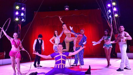 The Fantasia Circus on a visitr to Ipswich in 2016. The circus has now been set up by the side of th
