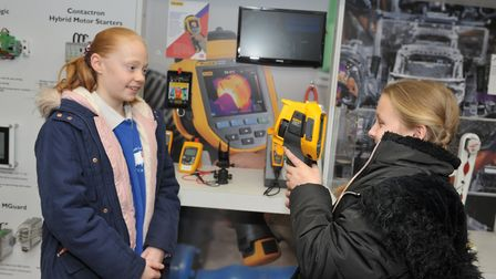Children from Walsham Le Willows Primary School got to try out the latest in technology on the Tita