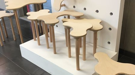 Camouflage Furniture by Ellie Benfield, Ipswich High School, winner of the Key Arts award for Innova