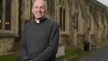 The Very Rev Jo Delfgou at St Mary's Church in Hadleigh, which has recently been vandalised Picture