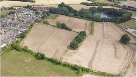 The land in Brantham where 288 homes are to be built Picture: BABERGH DISTRICT COUNCIL