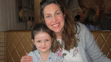 Anna Leggett, from Waldringfield, with her daughter Chloe. Picture: CFG