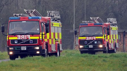 Firefighters tackled a kitchen blaze in Clacton Picture PHIL MORLEY