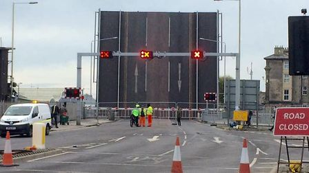 Basclue Bridge is closed for the second time this week. Picture: ADRIAN NOWELL