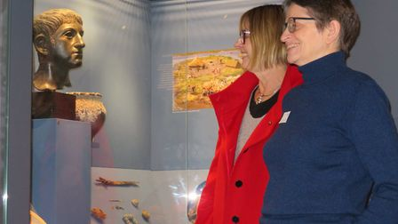 Sue Beardsmore from the National Lottery looks over the museum with curator Catherine Howard-Dobson