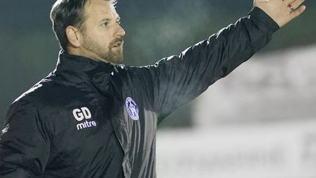 Leiston boss Glen Driver, recognises that his team are about four players short of where they need t