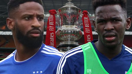 Janoi Donacien and Toto Nsiala are likely starters when Ipswich Town face Lincoln City. Picture: ARC