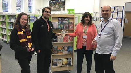 Harry Potter hands over to Brandon. Picture: SUFFOLK LIBRARIES
