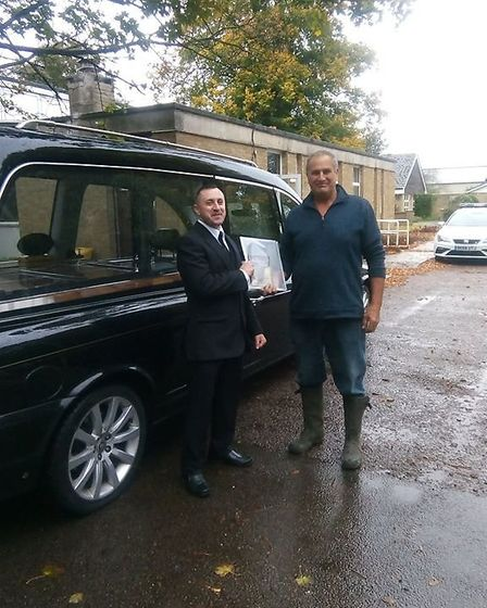 The hearse handover from to Mildenhall. Picture: SUFFOLK LIBRARIES